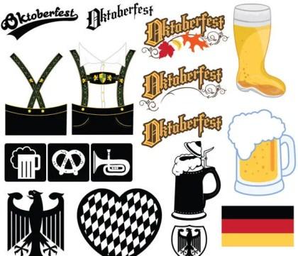 Oktoberfest Icons and Illustrations