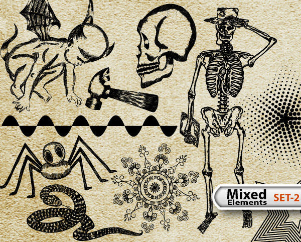 Mixed Elements Free Illustrator Vector Pack-2