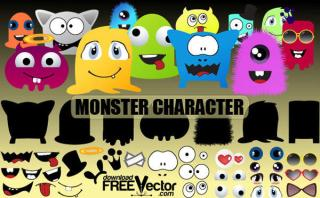 Monsters Characters Vector Free
