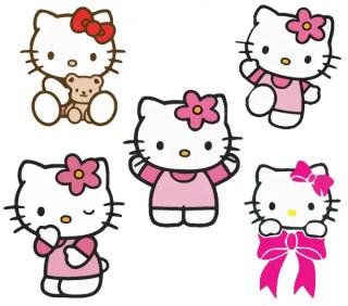 Free Hello kitty vectors