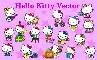 Hello Kitty Vector Art Free