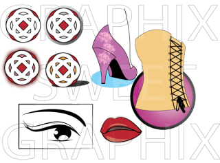 Fashion Vector Pack – Eyes, Lips, Heels