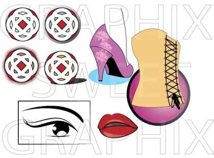 Fashion Vector Pack – Eyes, Lips, Heels