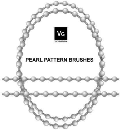 Pearl Pattern Brushes for Illustrator
