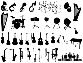 Free Vector Musical Instruments Silhouettes