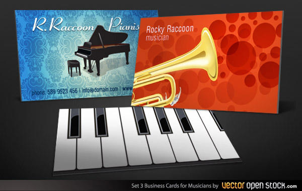 Musicians Business Card Design Template 123freevectors