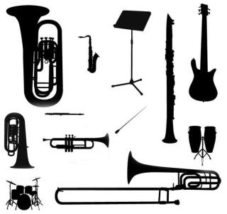 Music Instruments Silhouette Vector Free