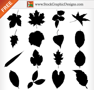 Free Leaf Silhouettes Vector Collection