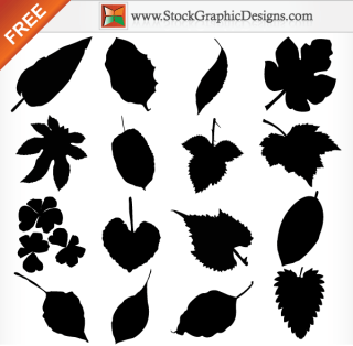 Leaf Silhouettes Free Vector Illustration