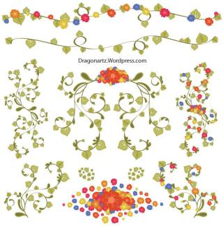 Free Floral OrnamentsVector
