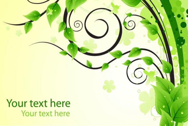 Green Floral Background Vector Free