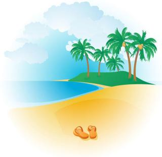 Free Tropical Beach Vector