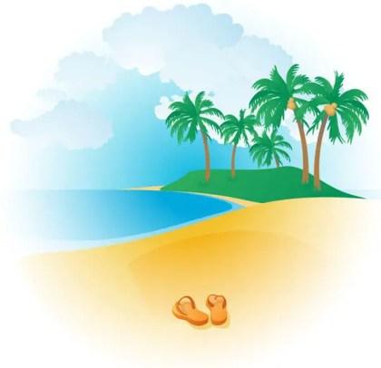 Free Tropical Beach Vector