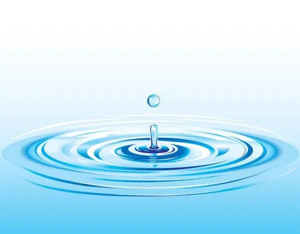 Realistic Water Drop Splash Vector