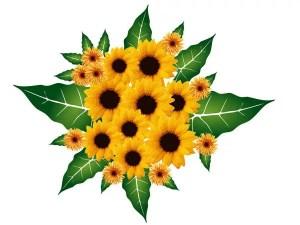 Bouquet Flowers Vector Free