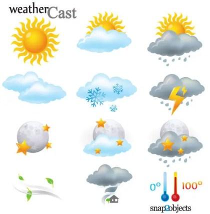 12 Vector Weather Cast Elements