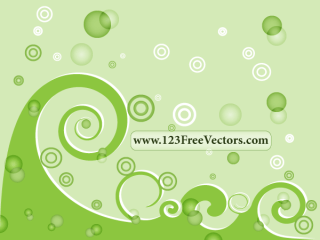 Green Swirl Background Vector