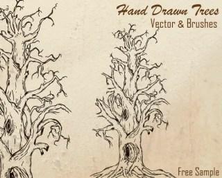 Free Hand Drawn Tree Vector