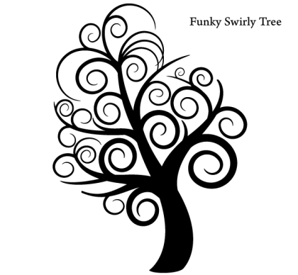 Free Vector Funky Tree