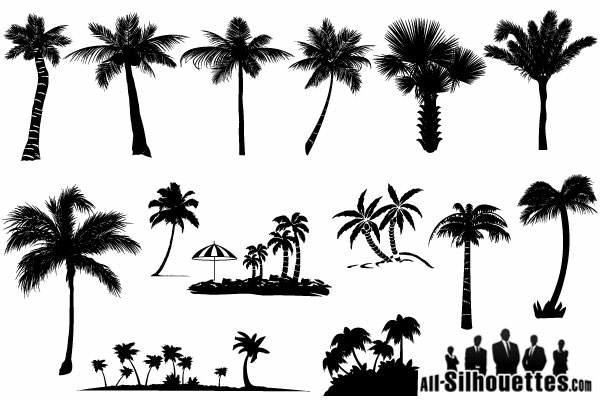 palm tree silhouettes vector free 123freevectors rh 123freevectors com free vector palm tree graphics free vector palm tree outline