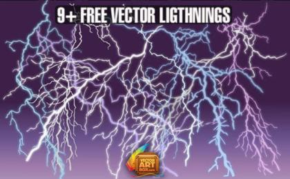 Free Lightning Vector Graphics