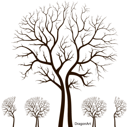 Leafless Autumn Tree Design Vector