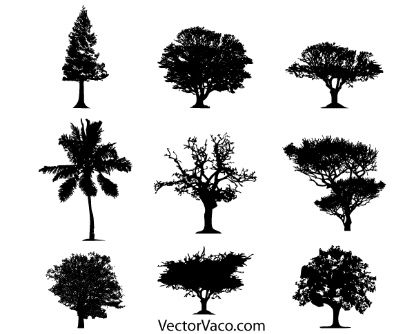 Tree Silhouette Vector Free Download 123Freevectors
