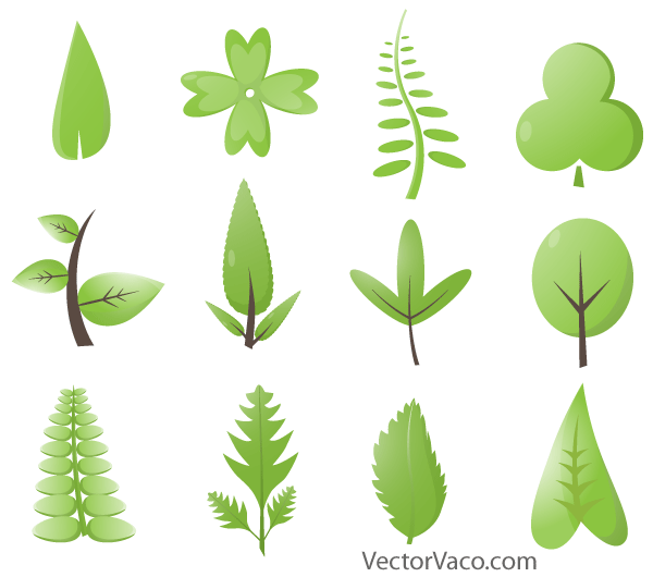 Free Green leaves Vector Graphics