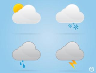 Cloud Weather Icons Vectors Free
