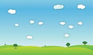 Outdoor Spring Landscape Vector Image