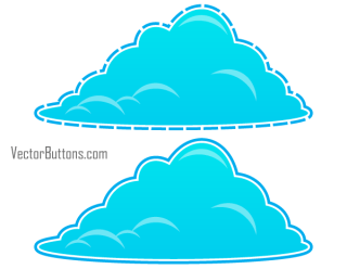 Free Cool Blue Fluffy Clouds Vectors