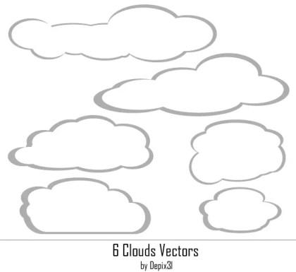 Free Clouds Vectors