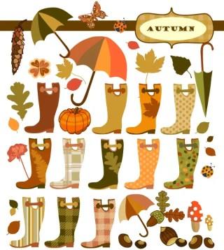 Free Autumn Vector Elements