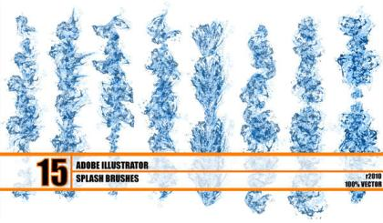 Hydronix – Free Water Splash Brushes Illustrator