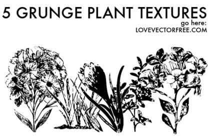 Vector Grunge Plant Textures