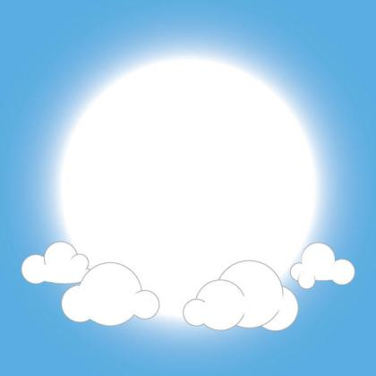 Free Fluffy Clouds Vector Background
