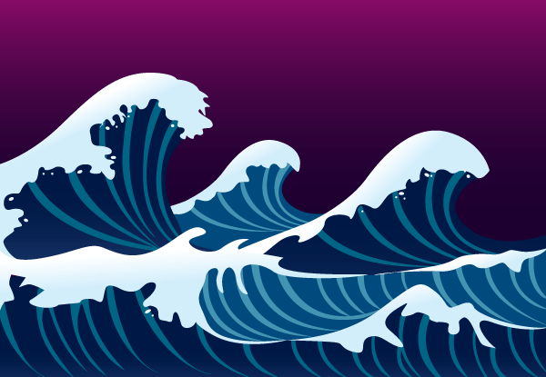 Waves and Foam Vector