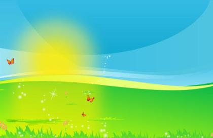 Vector Landscape with Shiny Sun