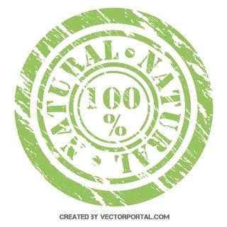 100% Natural Stamp Vector Illustrator