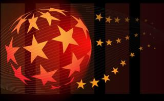 Star Ball Abstract Vector Background