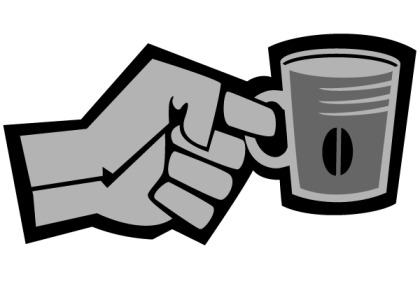 Free Vector Hand with Cup