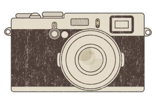 Retro Photo Camera Vector Illustration