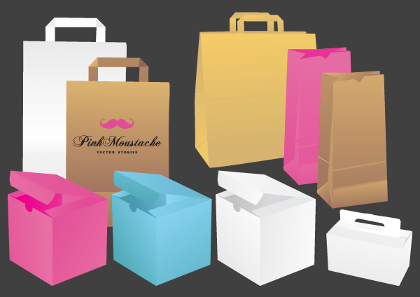 Free Vector Bags & Boxes