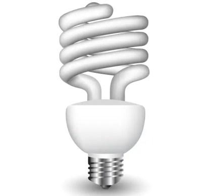 Energy Saving Fluorescent Light Bulb Vector Free