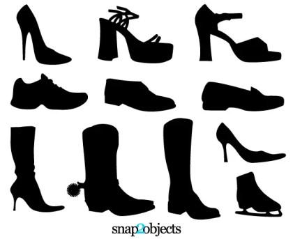 Free Shoe Vectors Silhouettes
