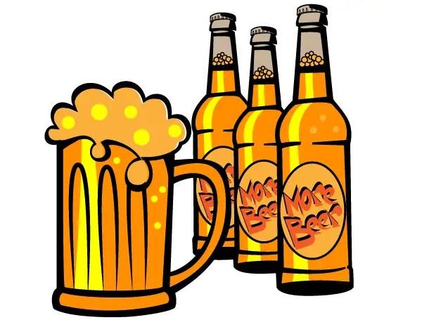 free beer bottle vector clip art 123freevectors rh 123freevectors com beer bottle silhouette clipart beer bottle clipart png