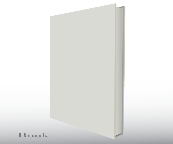 Blank Empty 3d Book Cover Free Vector Template