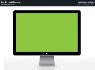 Apple Led Cinema – Vector Template Free