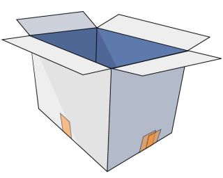 Free Cardboard Box Vector Art