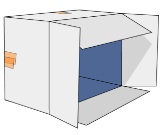 Vector Cardboard Box Tipped Over